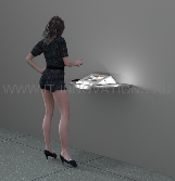 Настольный киоск-корпус под iPAD с подсветкой